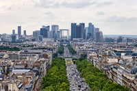 La Defense - View from the top of the Arc de Triomphe
