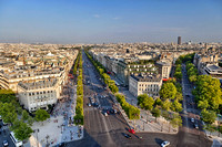 Champ Elysees - View from the top of the Arc de Triomphe